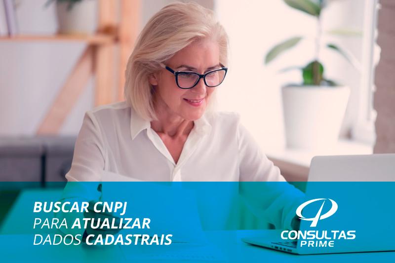 Buscar CNPJ para atualizar dados cadastrais