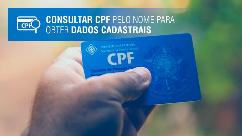 Consultar CPF pelo nome para obter dados cadastrais