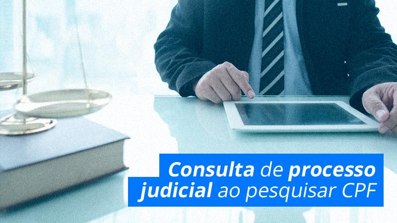 Consultar Processo Judicial ao pesquisar CPF