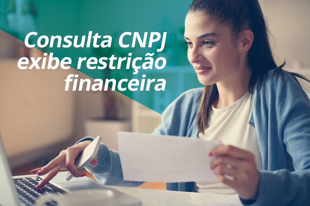 Consulta cnpj exibe restricao financeira