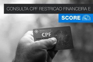 Consultar CPF com restrição financeira e Score
