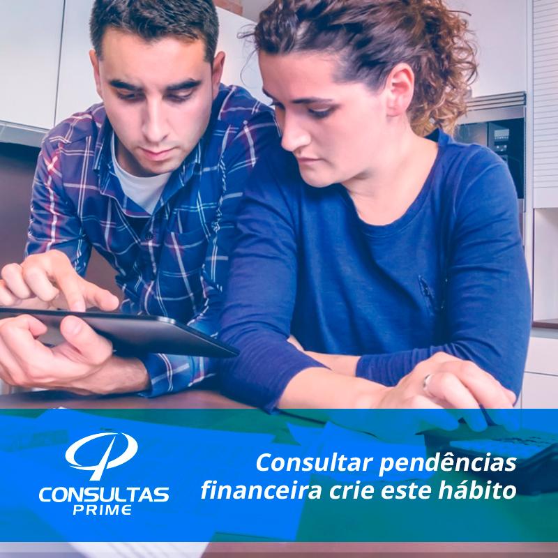 Criar hábito em Consultar Restrição Financeira