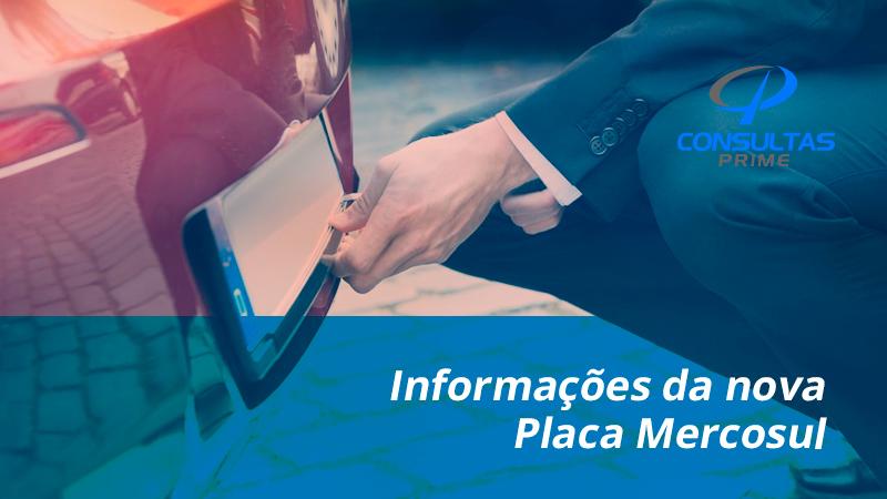 Informações da nova Placa Mercosul