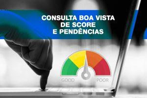 Consulta Boa Vista Score e Pendências